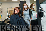 Sharon Lynch with Hair stylist Emma Quirke Hairdresser, Tralee on Monday