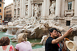 Rome, Italy; May 26, 2012 -- Trevi Fountain, Fontana di Trevi, a popular, baroque tourist attraction; architecture, tourism, culture, art, photography -- Photo: © HorstWagner.eu