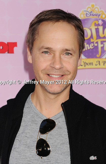 "BURBANK, CA - NOVEMBER 10: Chad Lowe arrives at the Disney Channel's Premiere Party For ""Sofia The First: Once Upon A Princess"" at the Walt Disney Studios on November 10, 2012 in Burbank, California."