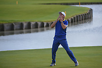 Sergio Garcia (Team Europe) blows kisses to the crowd following Sunday's singles of the 2018 Ryder Cup, Le Golf National, Guyancourt, France. 9/30/2018.<br /> Picture: Golffile | Ken Murray<br /> <br /> <br /> All photo usage must carry mandatory copyright credit (© Golffile | Ken Murray)