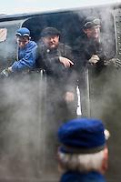 Europe/France/Aquitaine/33/Gironde/Soulac-sur-Mer: Lors de Soulac 1900 - les mécanos de la locomotive