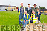 Scartaglin Tidy Towns - front l-r Kenneth Moynihan, Pat O'Leary, Rian O'Sullivan Back Thomas Preston, Kay Daly, supervisor, Sheila McSweeney, Tidy Towns committee Member