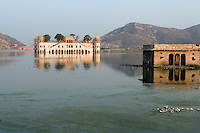 Lake Palace, Udaipur in the north India state of Rajasthan.  Also known as the Floating Palace.  A part of the palace has been converted in to a five star luxury hotel and managed by the Taj Group of Hotels.