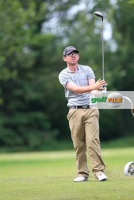 Cameron Raymond (Newlands) on the 9th tee during Round 3 of the Irish Boys Amateur Open Championship at Tuam Golf Club on Thursday 25th June 2015.<br /> Picture:  Thos Caffrey / www.golffile.ie