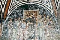 Doubting Thomas,wall-painting,crypt,AD 955,Osios Loukas Monastery,Greece