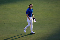 Tommy Fleetwood (ENG) on the 18th fairway during the third round of the DP World Championship, Earth Course, Jumeirah Golf Estates, Dubai, UAE. 23/11/2019<br /> Picture: Golffile | Phil INGLIS<br /> <br /> <br /> All photo usage must carry mandatory copyright credit (© Golffile | Phil INGLIS)