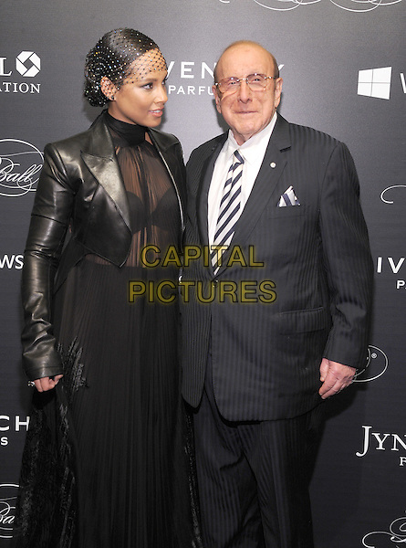 NEW YORK, NY - NOVEMBER 05:  Alicia Keys and Clive Davis attends the 2015 'Keep A Child Alive' Black Ball at Hammerstein Ballroom on November 5, 2015 in New York City.<br /> CAP/MPI/STV<br /> &copy;STV/MPI/Capital Pictures