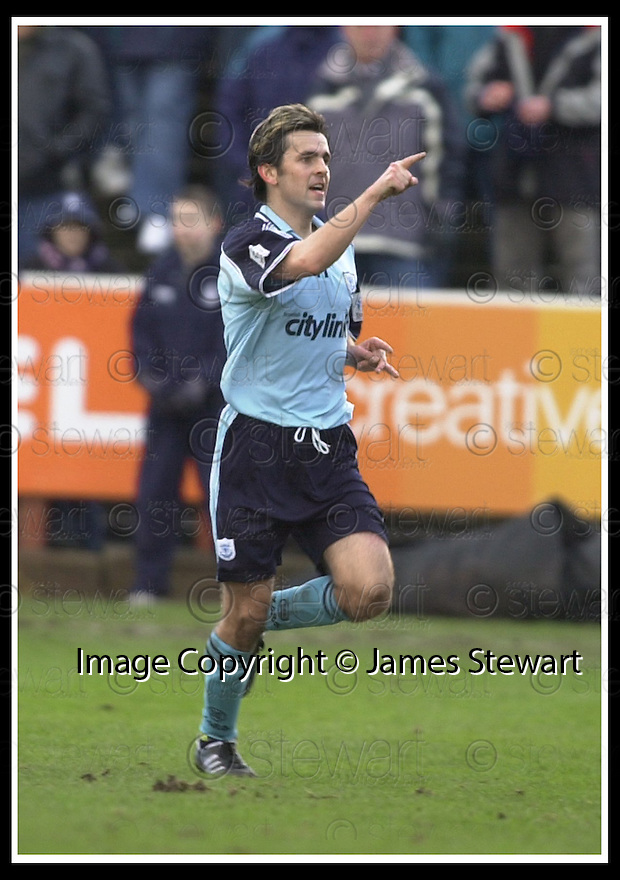 01/02/2003                   Copyright Pic : James Stewart.File Name : stewart-falkirk v st john 13.PAUL HARTLEY CELEBRATES AFTER HE SCORES ST JOHNSTONE'S GOAL......James Stewart Photo Agency, 19 Carronlea Drive, Falkirk. FK2 8DN      Vat Reg No. 607 6932 25.Office     : +44 (0)1324 570906     .Mobile  : +44 (0)7721 416997.Fax         :  +44 (0)1324 570906.E-mail  :  jim@jspa.co.uk.If you require further information then contact Jim Stewart on any of the numbers above.........