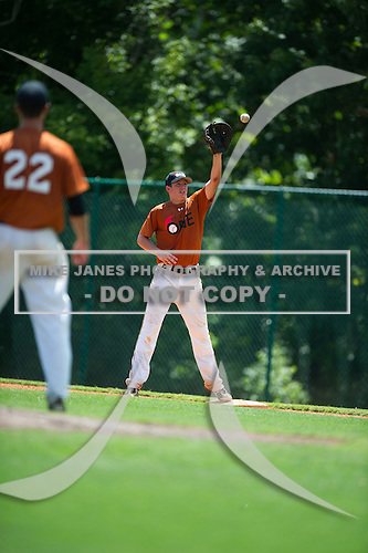 Chase Mitchell #12 during the Team One South Showcase presented by Baseball Factory at Chappell Park on July 13, 2012 in Atlanta, Georgia.  (Copyright Mike Janes Photography)