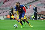 League Santander 2017/2018 - Game: 7.<br /> FC Barcelona vs UD Las Palmas: 3-0.<br /> Aleix Vidal.