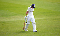 PICTURE BY VAUGHN RIDLEY/SWPIX.COM - Cricket - County Championship, Div 2 - Yorkshire v Northamptonshire, Day 2  - Headingley, Leeds, England - 31/05/12 - Yorkshire's Adam Lyth is out to Northamptonshire's Lee Daggett.