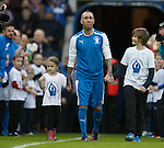 Fernando Ricksen in tears as he walks out at Ibrox