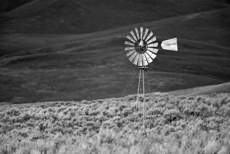 Windmill in isolated area near Red Mountain Pass, Montana