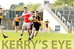 Mike Milner Dr Crokes in action against Breandán Kelliher Dingle in the Senior County Football Semi Final in Fitzgerald Stadium on Sunday.