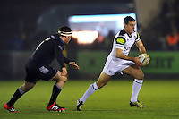 George Ford of Bath Rugby in possession. Aviva Premiership match, between Newcastle Falcons and Bath Rugby on January 2, 2016 at Kingston Park in Newcastle upon Tyne, England. Photo by: Patrick Khachfe / Onside Images