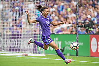 Orlando, FL - Saturday April 22, 2017: Kristen Edmonds during a regular season National Women's Soccer League (NWSL) match between the Orlando Pride and the Washington Spirit at Orlando City Stadium.