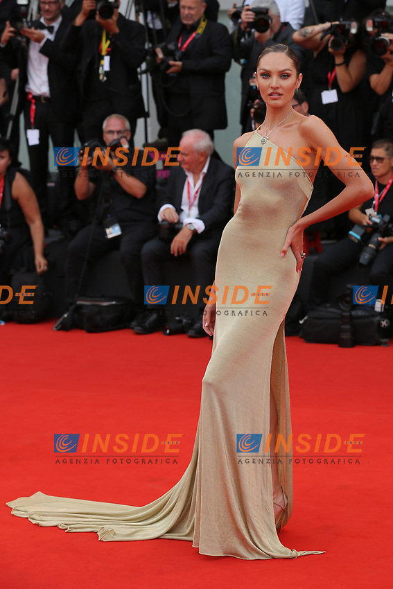 "VENICE, ITALY - AUGUST 28: Candice Swanepoel walks the red carpet ahead of the Opening Ceremony and the ""La Verite"" (The Truth) screening during the 76th Venice Film Festival at Sala Grande on August 28, 2019 in Venice, Italy., 2019 in Venice, Italy. (Photo by Marck Cape/Inside Foto)<br /> Venezia 28/08/2019"