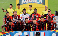 CUCUTA - COLOMBIA, 28-03-2019: Jugadores de Cúcuta posan para una foto previo al encuentro por la fecha 16 de la Liga Águila I 2019 entre Cúcuta Deportivo y Deportivo Independiente Medellín jugado en el estadio General Santander de la ciudad de Cúcuta. / Players of Cucuta pose to a photo prior the match for the date 16 of the Liga Aguila I 2019 between Cucuta Deportivo and Deportivo Independiente Medellin played at the General Santander stadium in Cucuta city. Photo: VizzorImage / Edgar Cusguen / Cont