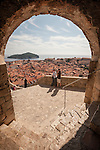 Walled city (stari grad) of Duvbrovnik, founded c. 972 along the Dalmatian Coast on the Adriatic Sea in Croatia
