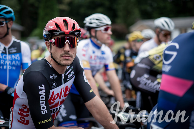John Degenkolb (DEU/Lotto-Soudal) at the start of the inaugural GP Vermarc 2020, which is the very first pro cycling race in Belgium after the covid19 lockdown of Spring 2020 & which was only set up some weeks in advance to accommodate belgian teams by providing racing opportunities asap after the lockdown allowed for racing to restart (but still under strict quarantine / social distancing measures for the public, riders & press)<br /> <br /> Rotselaar (BEL), 5 july 2020<br /> ©kramon