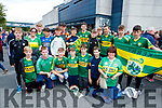Pictured are members of Beale GAA Club, Ballybunion, cheering on Kerry at the All Ireland SFC quarter final Kerry v Galway in Croke Park, Dublin on Sunday, front l-r: Conor Hennessy, David Hennessy, Darragh Kissane, Daithi Toomey, Conor Toomey, Andrew O'Connor, Evan Mulcaire and Mairead O'Neill. Back l-r: Mark Hennessy, Grainne Toomey, Diarmuid O'Mahony, Aaron Buckley, Barry O'Neill, Jack O'Sullivan, Luke O'Donovan, Conor Breen, Conor Toomey, Fionan Toomey, Eamon Lawlor, Liam Bryant and Cathal Farrell.