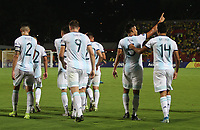 BUCARAMANGA – COLOMBIA, 03-02-2020: Fausto Vera de Argentina celebra después de anotar el segundo gol de su equipo durante partido entre Argentina U-23 y Uruguay U-23 por el cuadrangular final como parte del torneo CONMEBOL Preolímpico Colombia 2020 jugado en el estadio Alfonso Lopez en Bucaramanga, Colombia. / Fausto Vera of Argentina celebrates after scoring the second goal of his team during the match between Argentina U-23 and Uruguay U-23 for for the final quadrangular as part of CONMEBOL Pre-Olympic Tournament Colombia 2020 played at Alfonso Lopez stadium in Bucaramanga, Colombia. Photo: VizzorImage / Jaime Moreno / Cont