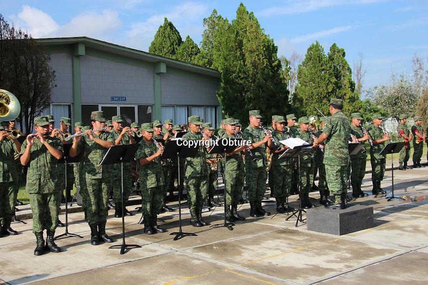 Querétaro, Qro. 30 de julio de 2016.- En la XVII Zona Militar de la entidad, se llevó acabo la ceremonia de ascensos y distinciones de conscriptos.
