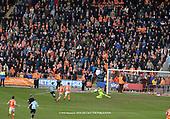 09/03/2019 Sky Bet League 1 Blackpool v Southend United<br /> <br /> Mark Howard saves Simon Cox shot at goal
