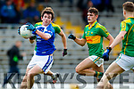 Graham O'Sullivan South Kerry in action against Ryan Carroll Kerins O'Rahillys in the Kerry Senior Football Championship Semi Final at Fitzgerald Stadium on Saturday.