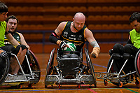 Chris Bond (AUS)<br /> Australian Steelers WC Training Camp<br /> Australian Wheelchair Rugby Team<br /> Australian Paralympic Committee<br /> Darwin NT / NTIS Stadium<br /> Wednesday 18 July 2018<br /> &copy; Sport the library / Jeff Crow