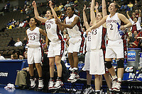 20 March 2006: Rosalyn Gold-Onwude, Brooke Smith, Candice Wiggins, Jillian Harmon, Krist during Stanford's 88-70 win over Florida State in the second round of the NCAA Women's Basketball championships at the Pepsi Center in Denver, CO.