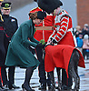 "CATHERINE, DUCHESS OF CAMBRIDGE_AND PRINCE WILLIAM.attend the St. Patrick's Day Parade at Mons Barracks, Aldershot_17/03/2013.Prince William attended as Colonel of the Regiment while Kate presented the traditional sprgs of shamrock to the Officers and Guardsmen.Mandatory credit photo:©Harlen/NEWSPIX INTERNATIONAL..**ALL FEES PAYABLE TO: ""NEWSPIX INTERNATIONAL""**..PHOTO CREDIT MANDATORY!!: NEWSPIX INTERNATIONAL(Failure to credit will incur a surcharge of 100% of reproduction fees)..IMMEDIATE CONFIRMATION OF USAGE REQUIRED:.Newspix International, 31 Chinnery Hill, Bishop's Stortford, ENGLAND CM23 3PS.Tel:+441279 324672  ; Fax: +441279656877.Mobile:  0777568 1153.e-mail: info@newspixinternational.co.uk"