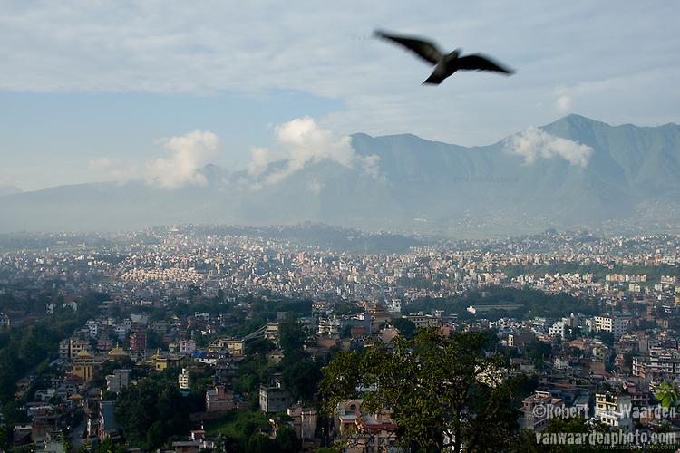 A morning in Kathmandu, Nepal.