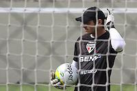 SAO PAULO, SP, 17.02.2014 - TREINO DO SPFC - Goleiro Denis durante treino do Sao Paulo FC no CT Barra Funda na regiao oeste da cidade de Sao Paulo nesta segunda-feira, 17. (Foto: Vanessa Carvalho / Brazil Photo Press).