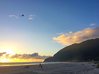 Kite flyer at Manzanita Beach, Oregon Coast