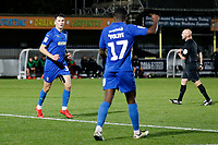 GOAL - Callum Reilly of AFC Wimbledon scores during the The Leasing.com Trophy match between AFC Wimbledon and Leyton Orient at the Cherry Red Records Stadium, Kingston, England on 8 October 2019. Photo by Carlton Myrie / PRiME Media Images.