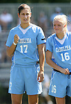 23 September 2007: North Carolina's Yael Averbuch (17) and Rachel Givan (16). The University of North Carolina Tar Heels defeated the University of San Francisco Dons 2-0 at Koskinen Stadium in Durham, North Carolina in an NCAA Division I Women's Soccer game, and part of the annual Duke Adidas Classic tournament.