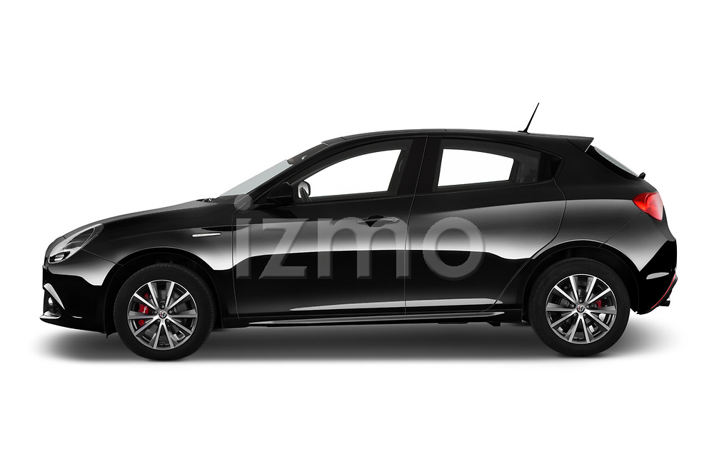 Car Driver side profile view of a 2016 Alfaromeo Giulietta Super 5 Door Hatchback Side View