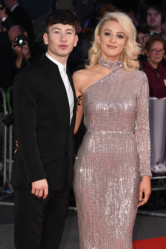"""Barry Keoghan and girlfriend, Shona Guerin<br /> arriving for the London Film Festival 2017 screening of """"Killing of a Sacred Deer"""" at Odeon Leicester Square, London<br /> <br /> <br /> ©Ash Knotek  D3332  12/10/2017"""