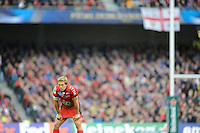 Jonny Wilkinson of RC Toulon looks on during the Heineken Cup Final between ASM Clermont Auvergne and RC Toulon at the Aviva Stadium, Dublin on Saturday 18th May 2013 (Photo by Rob Munro)