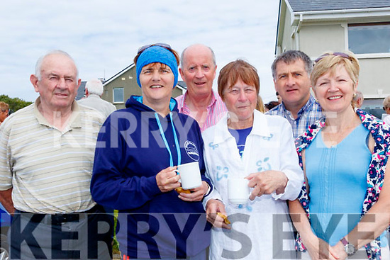 L-R jerry Flynn, Breda quirke, Sean Spillane, Kathleen Simmons, Martin Quirke and Marty Knightly attending the opening of the new Maharees heritage trail last Saturday morning.
