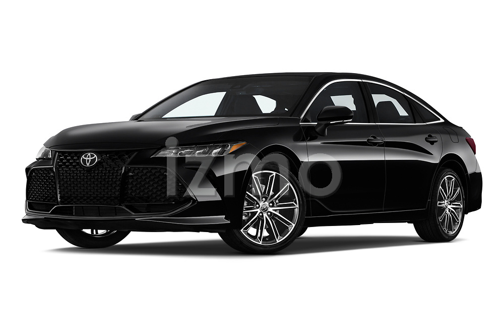 Stock pictures of low aggressive front three quarter view of a 2019 Toyota Avalon XSE 4 Door Sedan
