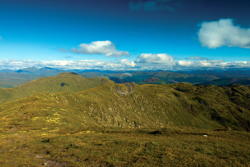 The Southern Highlands from Ben Ledi, Loch Lomond and the Trossachs National Park, Stirlingshire