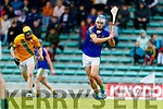 Kieran O'Regan Kilmoyley in action against Darragh Shanahan Lixnaw in the Kerry County Senior Hurling championship Final between Kilmoyley and Lixnaw at Austin Stack Park on Sunday.
