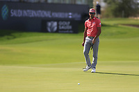 Rafa Cabrera Bello (ESP) on the 18th green during the 3rd round of  the Saudi International powered by Softbank Investment Advisers, Royal Greens G&CC, King Abdullah Economic City,  Saudi Arabia. 01/02/2020<br /> Picture: Golffile | Fran Caffrey<br /> <br /> <br /> All photo usage must carry mandatory copyright credit (© Golffile | Fran Caffrey)