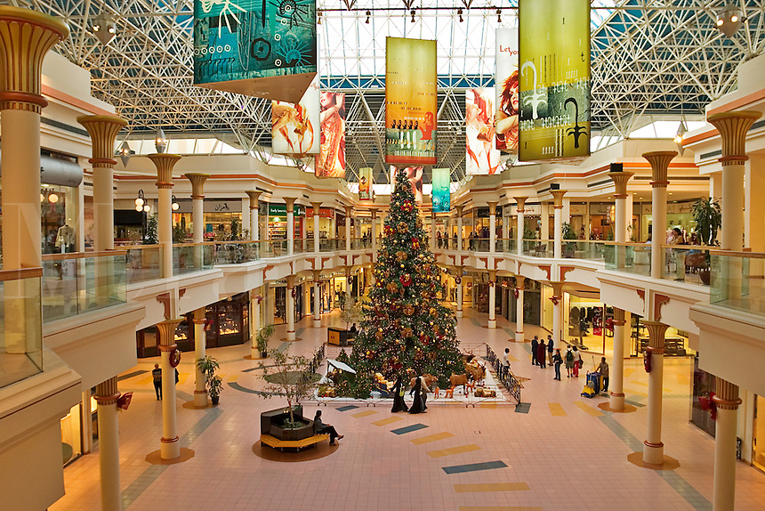 Dubai. United Arab Emirates.  Wafi Centre/Center Shopping Mall. With Christmas Tree..
