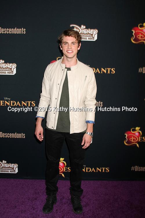 "LOS ANGELES - JUL 24:  Jedidiah Goodacre at the ""Descendants"" Premiere Screening at the Walt Disney Studios on July 24, 2015 in Burbank, CA"