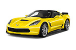 2017 Chevrolet Corvette Grand-Sport-2LT 3 Door Coupe Angular Front stock photos of front three quarter view