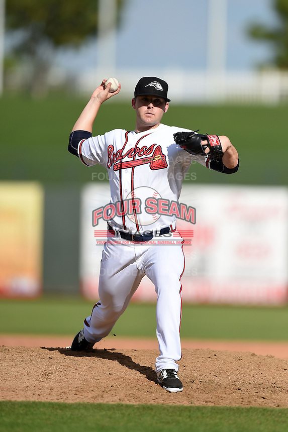 Peoria Javelinas pitcher Brandon Cunniff (45) during an Arizona Fall League game against the Scottsdale Scorpions on October 18, 2014 at Surprise Stadium in Surprise, Arizona.  Peoria defeated Scottsdale 4-3.  (Mike Janes/Four Seam Images)