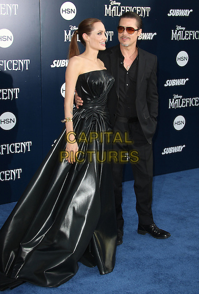 Hollywood, CA - May 28: Angelina Jolie, Brad Pitt Attending World Premiere Of Disney's &quot;Maleficent&quot; At The El Capitan Theatre California on May 28, 2014.  <br /> CAP/MPI/RTNUPA<br /> &copy;RTNUPA/MediaPunch/Capital Pictures
